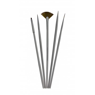 LECENTE  5 x Nail Art Brushe & Tool Set  8gr