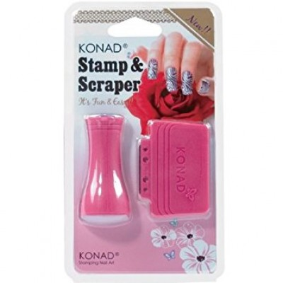 KONAD STAMPING ART; NEW STAMP & SCRAPER SET