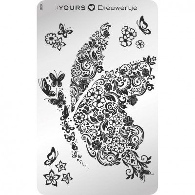 :YOURS PLATE   YLD01 - Butterfly Baby
