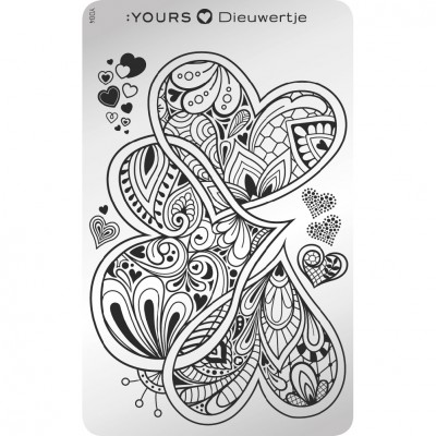 :YOURS PLATE   YLD04 - Queen of Hearts