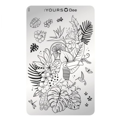 :YOURS PLATE   YLD06 - Tropical Vibes