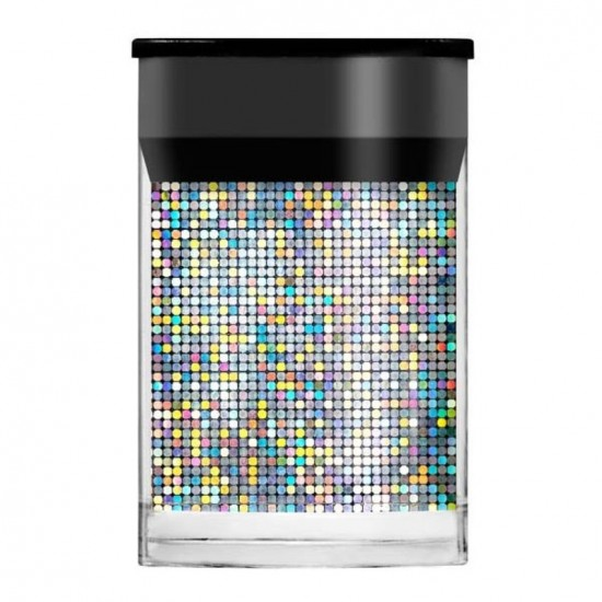 Lecente Nail Foil Silver Mosaic